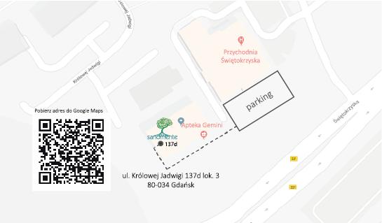 Mapa dojazdu do Sanomente